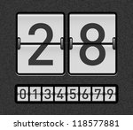 countdown timer with different... | Shutterstock .eps vector #118577881