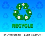 recycle symbol in the form of... | Shutterstock .eps vector #1185783904