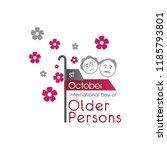 international day of older...   Shutterstock .eps vector #1185793801