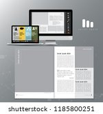 corporate booklet or... | Shutterstock .eps vector #1185800251