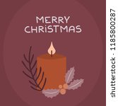 christmas card invitation with... | Shutterstock .eps vector #1185800287
