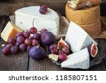 parmesan and pont l'eveque... | Shutterstock . vector #1185807151