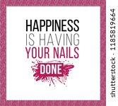manicure salon symbol ... | Shutterstock .eps vector #1185819664