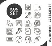 contains such icons as... | Shutterstock . vector #1185825694