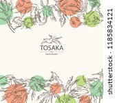 background with tosaka ... | Shutterstock .eps vector #1185834121