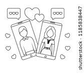 online dating design | Shutterstock .eps vector #1185838447