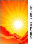 red sun | Shutterstock .eps vector #11858404
