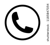 vector phone sign in circle | Shutterstock .eps vector #1185847054