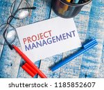 project management  business... | Shutterstock . vector #1185852607