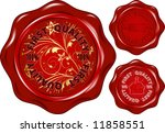 vector wax seal with text ... | Shutterstock .eps vector #11858551