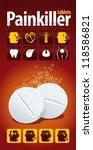 painkiller tablets.... | Shutterstock .eps vector #118586821