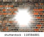 white light bursting through a... | Shutterstock . vector #118586881