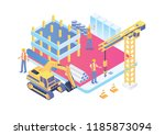 modern smart isometric under... | Shutterstock .eps vector #1185873094