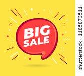 big sale speech bubble. vector   Shutterstock .eps vector #1185873511