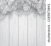 white artificial christmas tree ... | Shutterstock .eps vector #1185873841