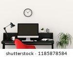 interior room design for...   Shutterstock . vector #1185878584