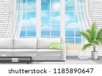 living room interior with... | Shutterstock .eps vector #1185890647