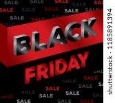 black friday sale design three... | Shutterstock .eps vector #1185891394