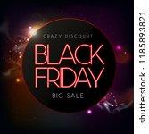 neon sign black friday big sale ... | Shutterstock .eps vector #1185893821