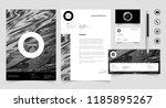 letterhead set corporate...   Shutterstock .eps vector #1185895267