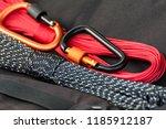 metal carabine for... | Shutterstock . vector #1185912187