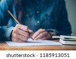 high school college student... | Shutterstock . vector #1185913051
