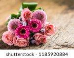 close up beautiful bouquet of... | Shutterstock . vector #1185920884