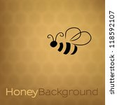 Honey Background With Bee