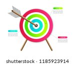 colorful target with arrow for... | Shutterstock .eps vector #1185923914