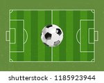 soccer ball realistic in the... | Shutterstock .eps vector #1185923944