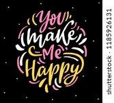 hand lettering love phrase you... | Shutterstock .eps vector #1185926131