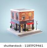 unusual 3d illustration of a... | Shutterstock . vector #1185929461