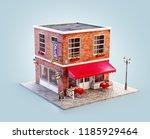unusual 3d illustration of a... | Shutterstock . vector #1185929464
