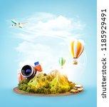 unusual 3d illustration of a... | Shutterstock . vector #1185929491