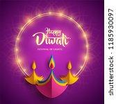 happy diwali. paper graphic of... | Shutterstock .eps vector #1185930097