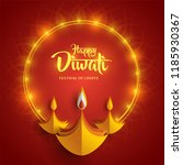 happy diwali. paper graphic of... | Shutterstock .eps vector #1185930367