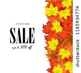 sale on background of autumn... | Shutterstock .eps vector #1185934774