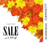 sale on background of autumn... | Shutterstock .eps vector #1185934777