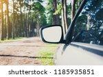 side rear view mirror on a car... | Shutterstock . vector #1185935851