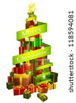 a stack or pile of christmas...   Shutterstock . vector #118594081