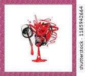 manicure salon symbol  liquid... | Shutterstock .eps vector #1185942664