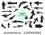 set of different grunge brush... | Shutterstock .eps vector #1185943081