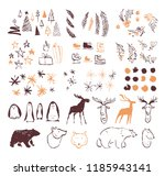 vector collection of artistic... | Shutterstock .eps vector #1185943141