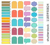 scrapbooking stickers vector.... | Shutterstock .eps vector #1185950824