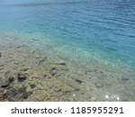 crystal clear water of aegean...   Shutterstock . vector #1185955291