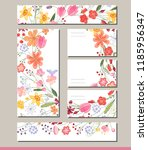 summer templates with contour... | Shutterstock .eps vector #1185956347