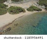 aegean island   rocks and clear ...   Shutterstock . vector #1185956491