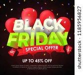 black friday 2018. sale banner... | Shutterstock .eps vector #1185956827