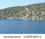 aegean sea and yacht   Shutterstock . vector #1185956911