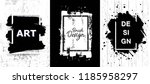 vector black paint  ink brush... | Shutterstock .eps vector #1185958297